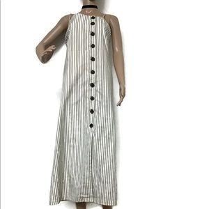 Halter Stripe Long Dress